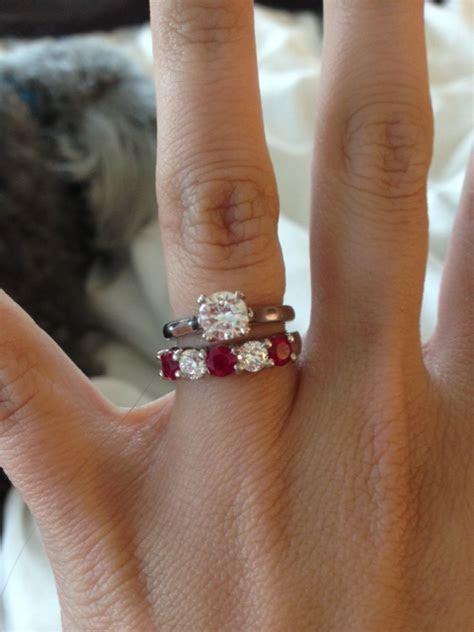 Chunky diamond wedding band vs dainty morganite engagement
