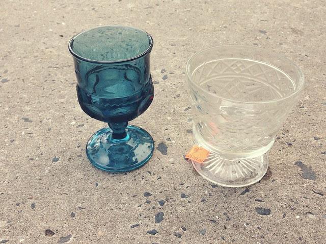 DIY • Vintage Glass Succulent Planters.