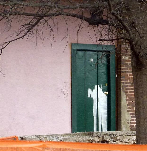 P1030888-2012-01-12--Virginia-Cotton-Docks-Beltline-Doors-Green-Pink-detail