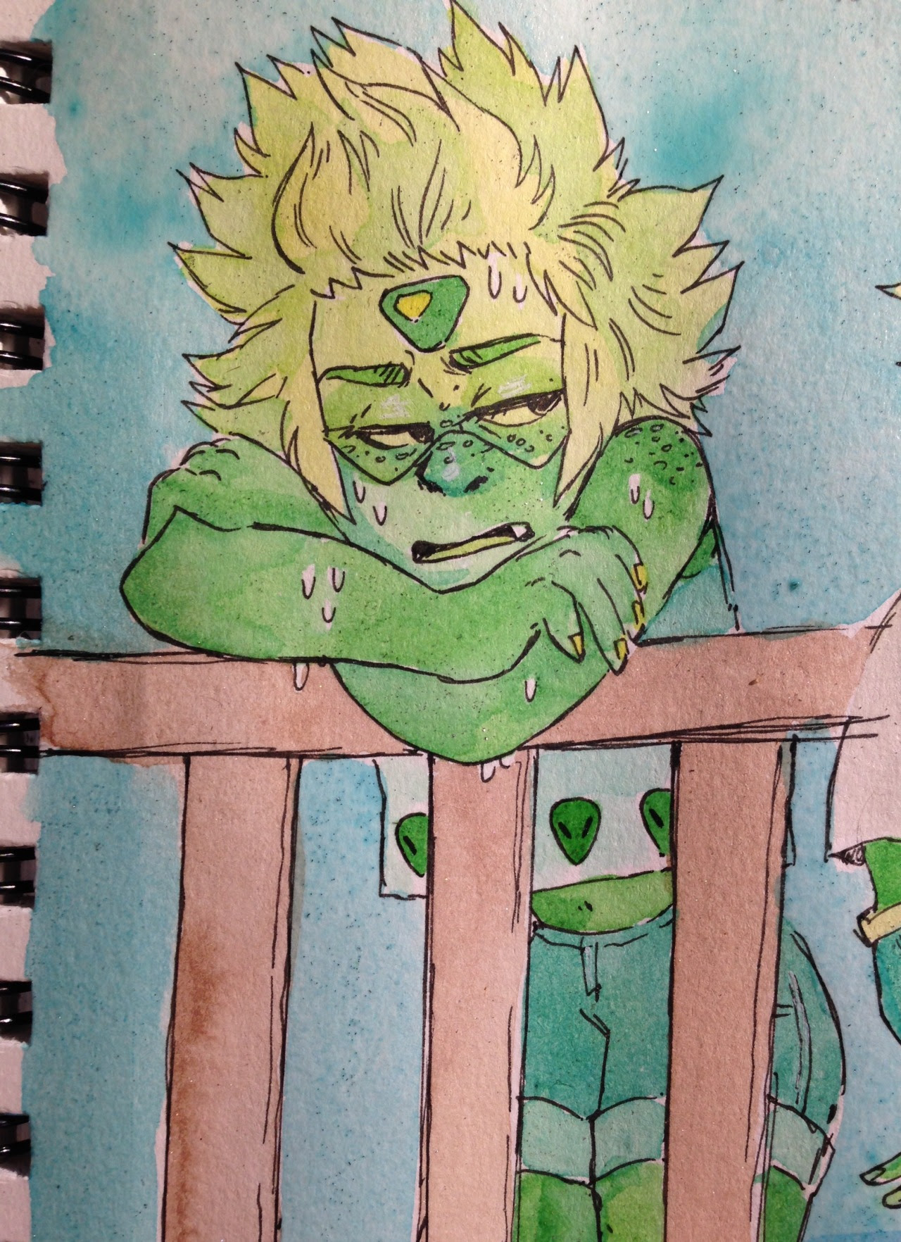 more of peridot suffering through the summer. she complains the whole time.