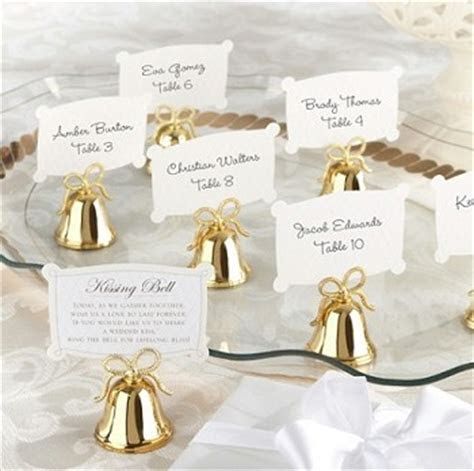 Gold Kissing Bells Place Card (set of 24)