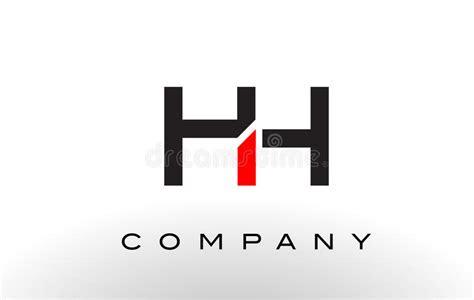 hh logo letter design vector stock vector illustration