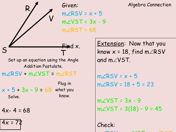 The Angle Addition Postulate Worksheet Answers - Nidecmege