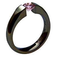 Black Zirconium Wedding Ring - absolutetitanium.com