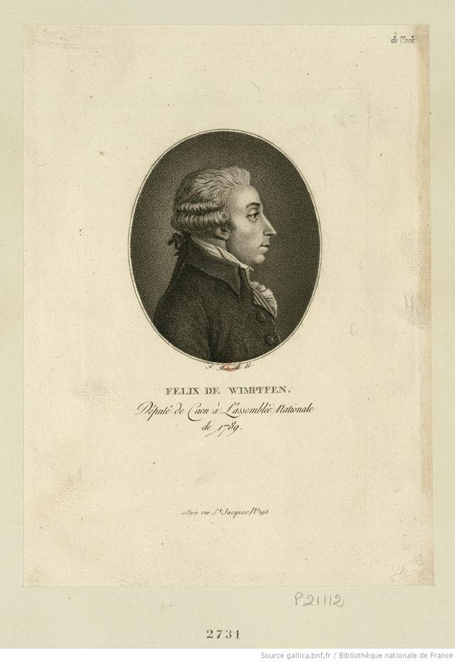 Felix de Wimpffen: deputado por Caen na Assembléia Nacional de 1789: [estampe] / F. Bonneville del.