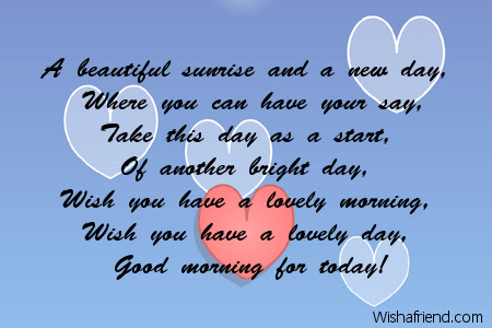 Good Morning Poem A Beautiful Day