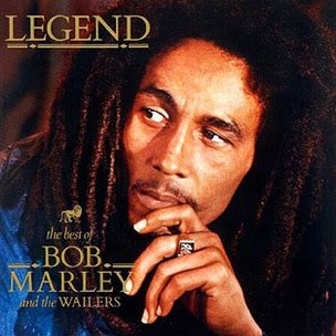 Bob Marley album cover for Legend