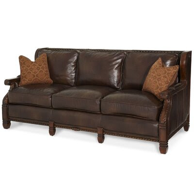 Carved Wood Couch   Wayfair
