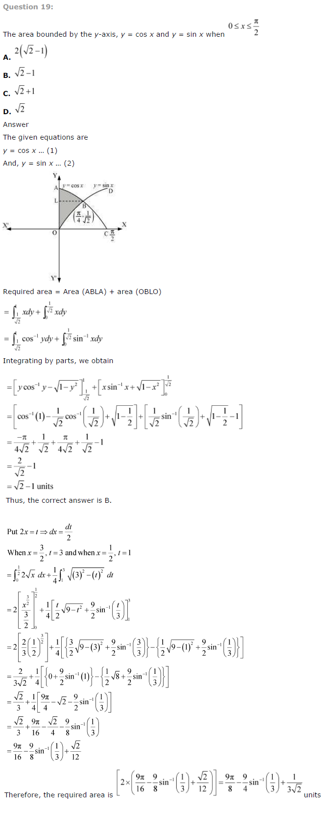 NCERT Solutions for Class 12 Maths Chapter 8 Application of Integrals ex 8.8
