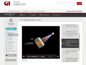 Aulas em vídeo reforçam o conteúdo (Foto: Reprodução)