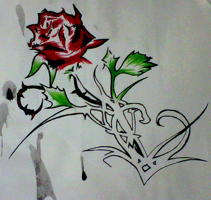 Heart And Roses Drawing At Getdrawingscom Free For Personal Use