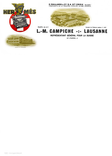 Briefpapier L.M. Campiche 1932