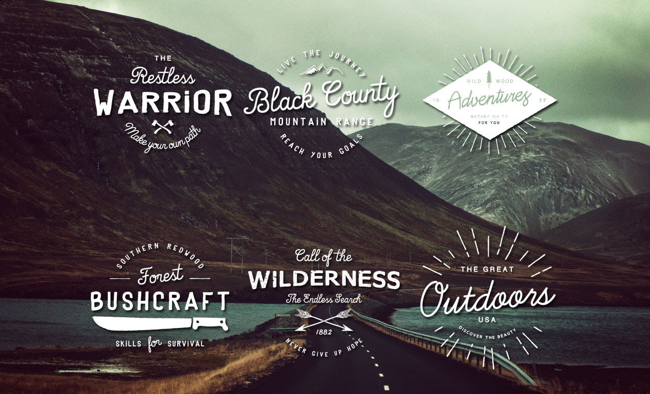 vintage logos logos from the great outdoors hero