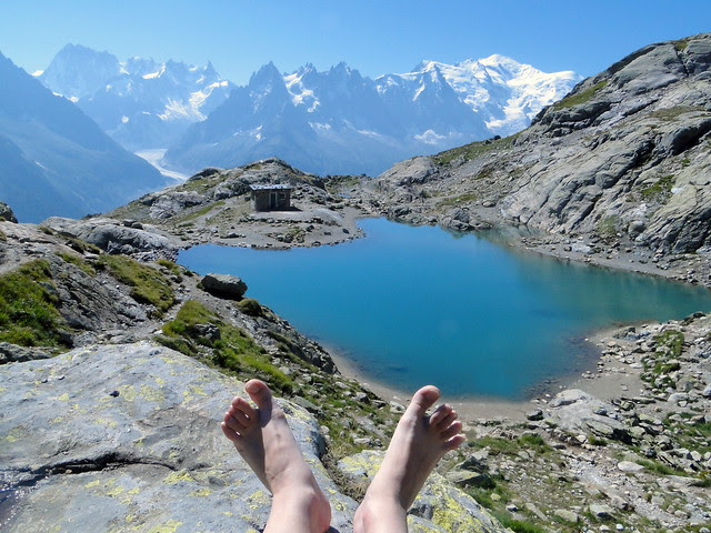 pieds lac blanc