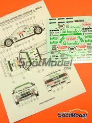Calcas 1/24 Reji Model - Lancia 037 Rally Totip Benetton Nº 11 - Adartico Vudafieri + Luigi Pirollo - Rally Tour de Corse 1983 - para kits de Hasegawa 20264, 25030