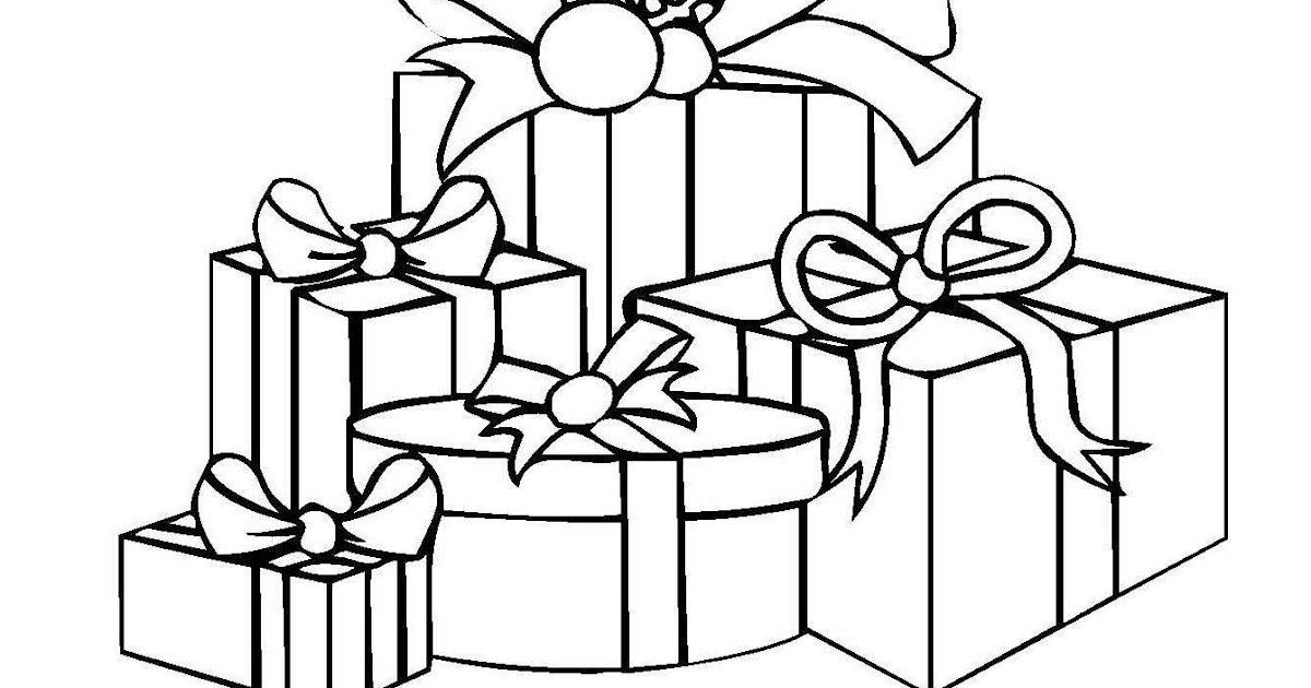 luxus ausmalbilder weihnachten geschenke  top kostenlos