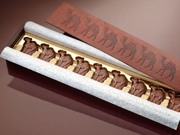 Chocolate à base de leite de camelo vendido nos Emirados Árabes Unidos (Foto: Divulgação/Al Nassma)
