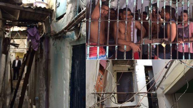 Chamada 'Minha Cela Minha Vida', essa é a 'área VIP' do presídio, onde detentos pagam para 'fugir' da superlotação (Foto: Ministério Público/BBC)