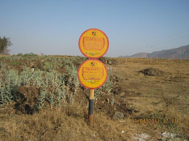 Gas Pipe Line of GAIL (India) LTD in Majestic Bungalow Plots Scheme, near Dajikaka Gadgil Developers' Anant Srishti at Kanhe, near Talegaon, Pune
