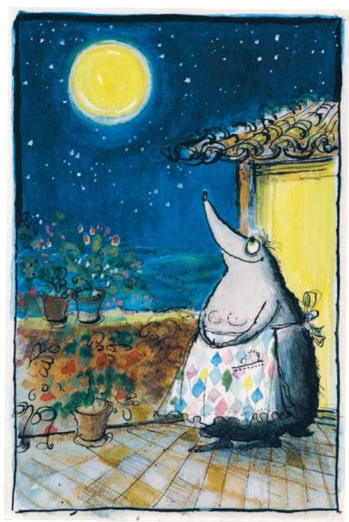 Our final image in the Ronald Searle gallery (from Les Tres Riches Heures de Mrs Mole)