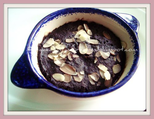 Microwave Chocolate Almond Cake