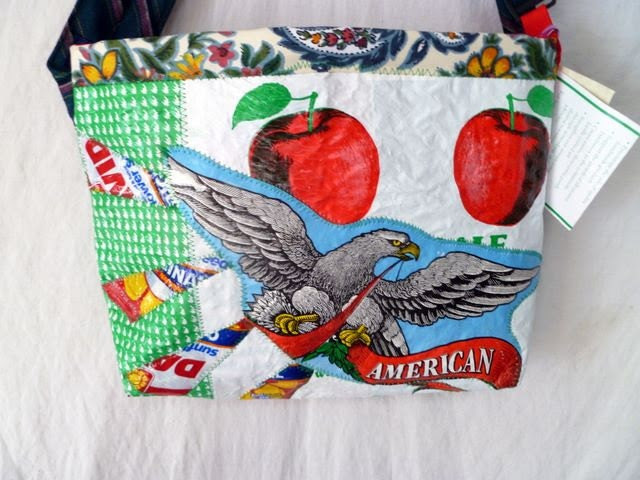 Apple Eagle Original Design Recycled Fused Plastic Upcycled Tote T231