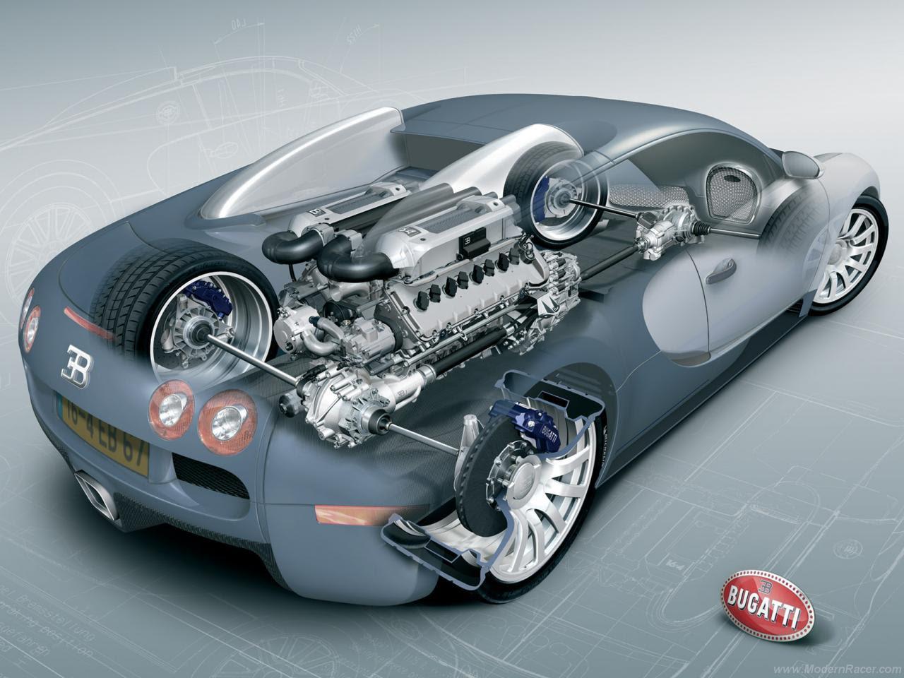 Bugatti Veyron 16 4 Car Cutaway Modern Racer Features