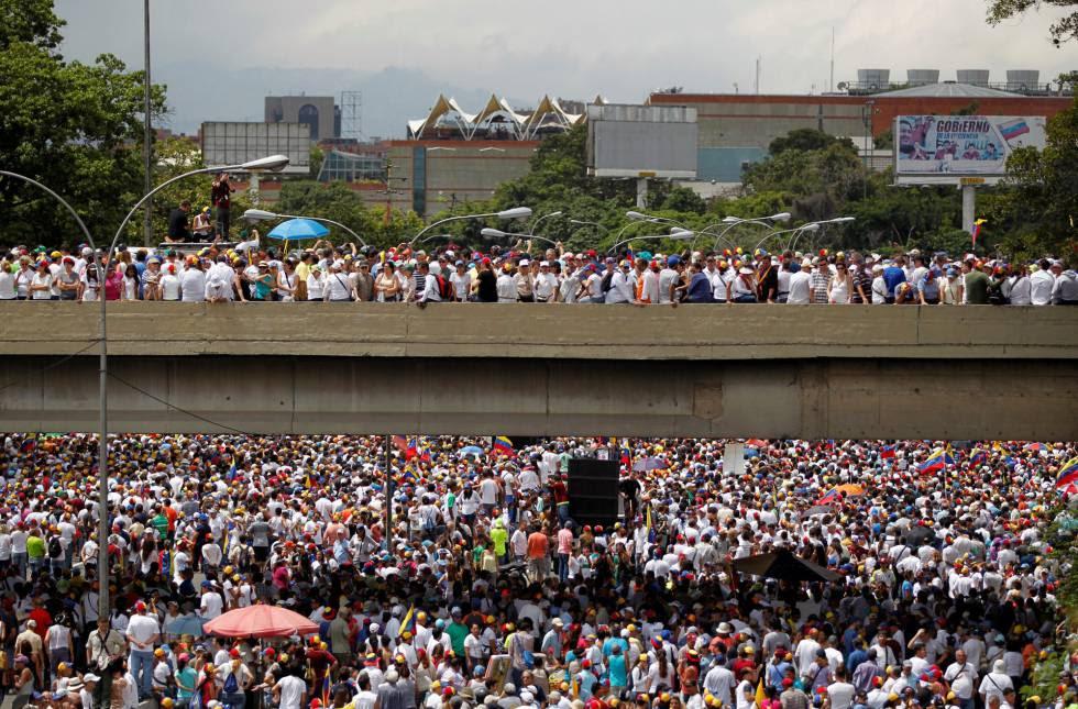 Protesto contra Governo da Venezuela