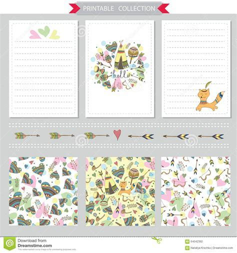 Vector Printable Notepad Design Of Cover And Papers Stock