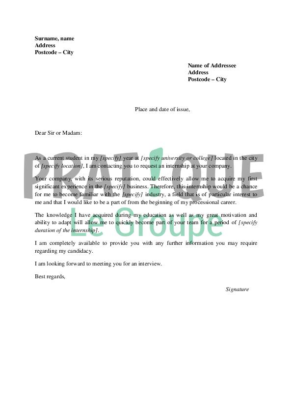 Exemple De Lettre De Motivation En Anglais Pour Une Université | Covering Letter Example