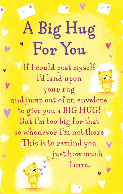 A Big Hug For You Heartwarmers Keepsake Credit Card