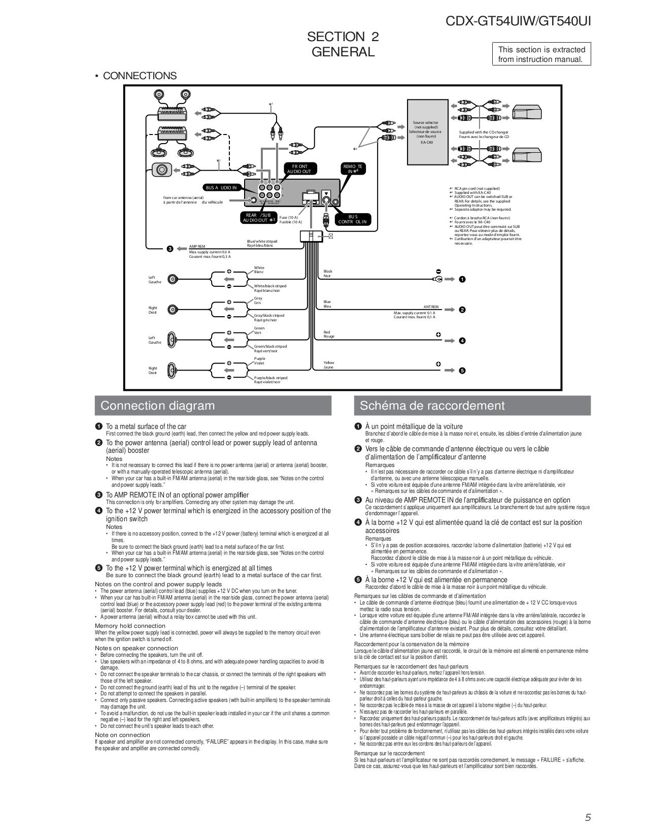 Sony 52wx4 Wire Diagram