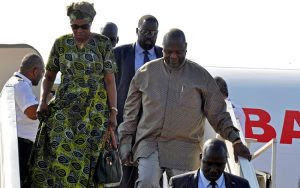 South Sudan rebel leader Machar returns to mark peace deal