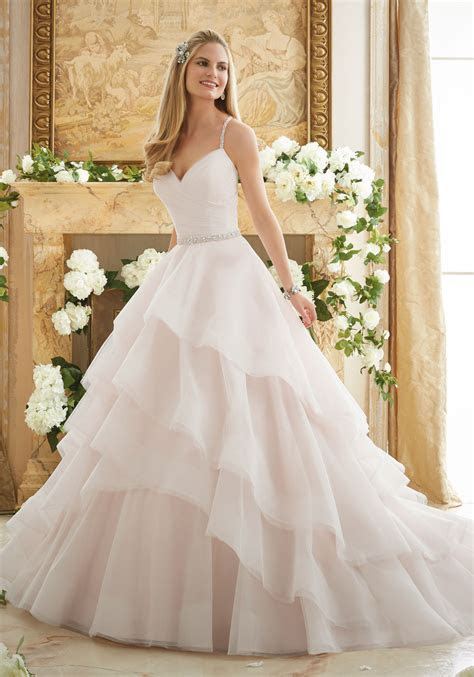 Elaborately Beaded Crystal Ball Gown Wedding Dress   Style