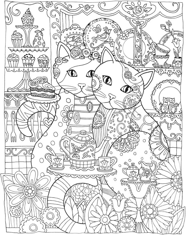 Creative Cats coloring Page by Creative Haven
