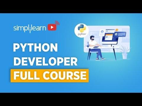 Python Developer Full course | Python Programmer Course | Python For Beginners | Simplilearn