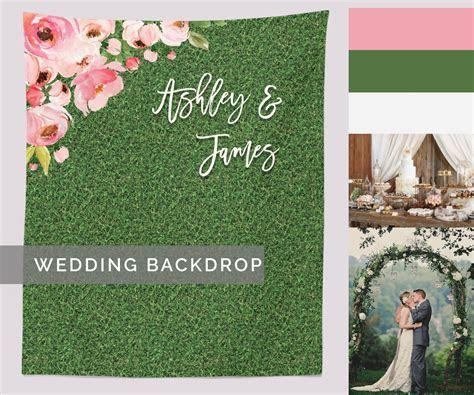 Rustic Wedding Backdrop, Floral Wedding Decor, Grass