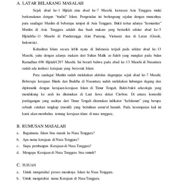 Peta Indonesia: Makalah Sejarah Islam Di Indonesia