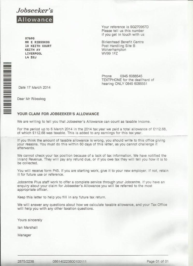 annet brev jobcentre