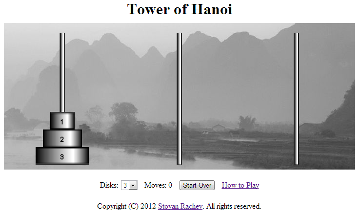 Tower Of Hanoi Program In C Using Graphics And Illustrations