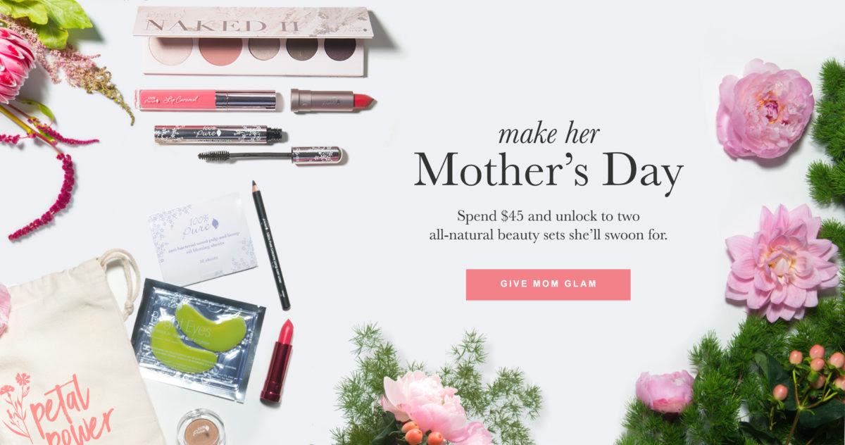 Deal Alert: 100% Pure\u002639;s Amazing Mother\u002639;s Day Promo  Vegan Beauty Review  Vegan and Cruelty