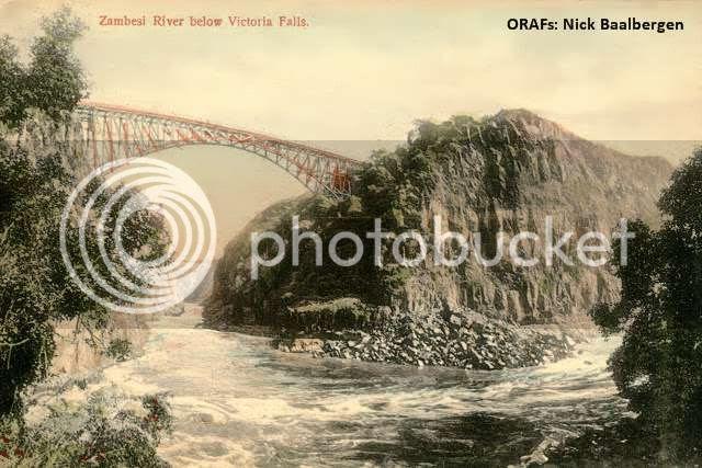 Early Vic Falls2, Zambesi River Below Victoria Falls.