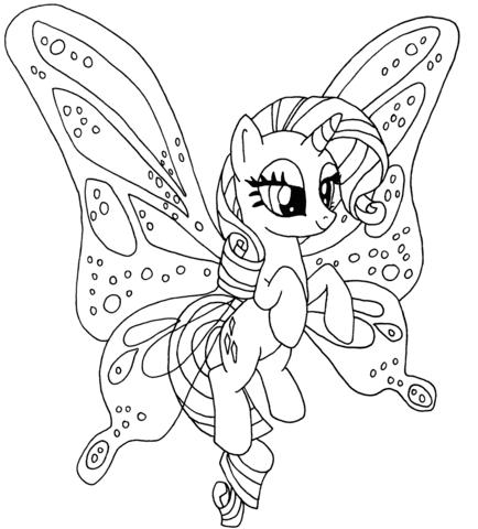 Disegno Di Rarity Pony Da Colorare Disegni Da Colorare E Stampare
