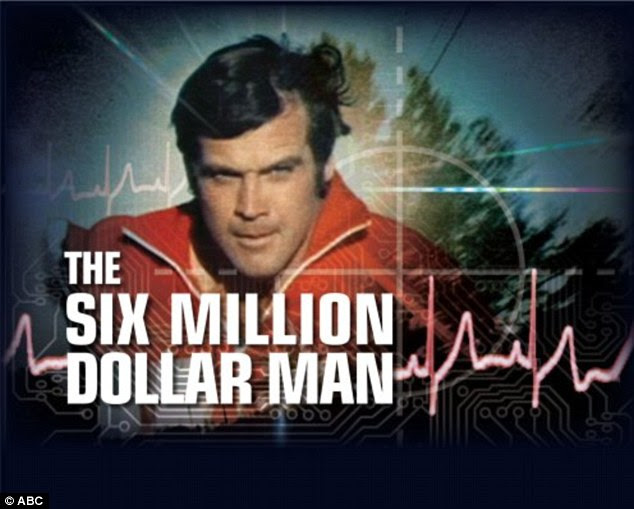 The original: The first bionic man, as seen in the 1970s television show 'The Six Million Dollar Man'