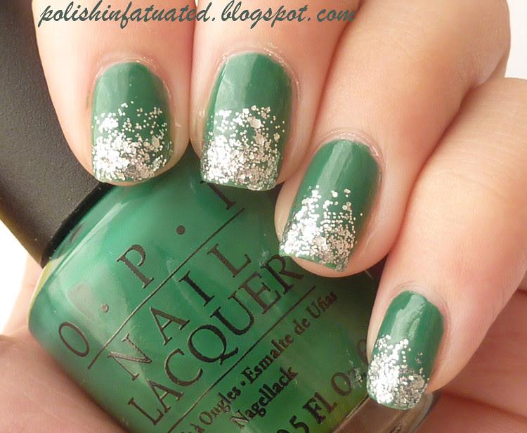 jade is the new black glitter tips