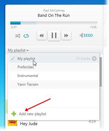 Organize as músicas em playlists