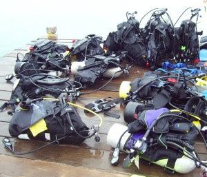 siap2 diving. tabung oksigen