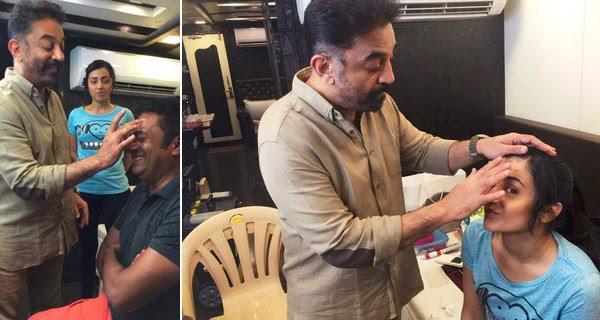 Kamal Haasan turns make-up artist for 'Thoongaavanam'