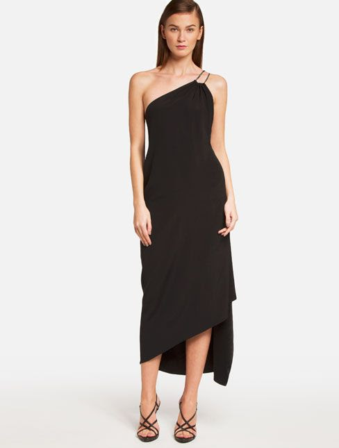 Chain Strap Crepe Dress