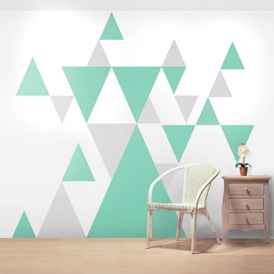geometric pattern giant wall sticker set by oakdene designs ...